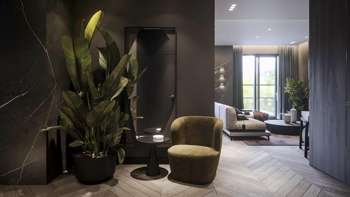 Apartment Interior Design Concept Dark Lykasova
